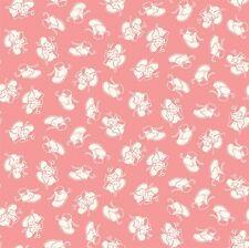 Cuarto Gordo Juguete pecho Zapatos de Bebé en Rosa 100% algodón Acolchado tela Penny Rose