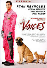 The Voices (DVD, 2015) Ryan Reynolds EXCELLENT with UltraViolet Code