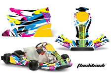 AMR Racing Graphics KG Freeline Birel Cadet Sticker Kits Decals FLASHBACK