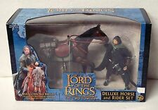 Lord of The Rings Two Towers Deluxe Horse & Rider Set Aragorn & Brego 2003 MISB