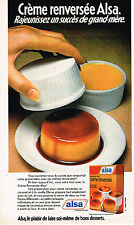 PUBLICITE ADVERTISING 124  1977  ALSA dessert    la creme renversée