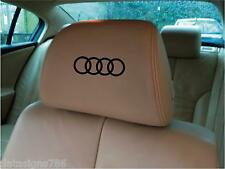 Audi Ring Headrest Decals/Stickers x 5