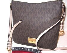 Michael Kors New Jet Set Travel Brown Signature Large Messenger Bag  NWT $198