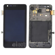 For Samsung Galaxy S 2 II i9100 Touch Digitizer+LCD Display Screen+Frame Black