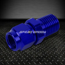 """4-AN FEMALE FLARE TO 1/4"""" NPT MALE BLUE ALUMINUM REDUCER B-NUT SWIVEL FITTING"""