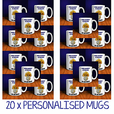 20 x PERSONALISED MUGS. PERFECT FOR PLATOON/TROOPS. ALL CAP BADGES AVAILABLE