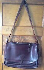 Vintage Coach Brown Leather Briefcase Messenger Bag 9901 USA