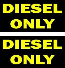 Set of 2 sticker decal vinyl car laptop macbook small diesel only rental vehicle