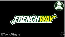 FRENCHWAY car sticker decal euro french citroen pug renault car sticker decal