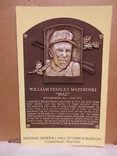 BILL MAZEROSKI (PITTSBURGH PIRATES) BB HALL OF FAME INDUCTION (2001) POST CARD