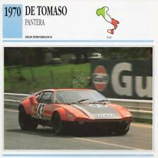 1970 DE TOMASO PANTERA Racing Classic Car Photo/Info Maxi Card