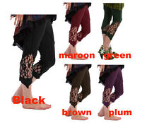 LACE LEGGINGS -Yoga, psy,Hippy,Dance and Festival,Steampunk,Gothic size 6-10