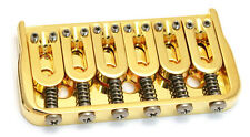 "Hipshot 41060G 6-String Hardtail Fixed Electric Guitar Bridge .125"" - GOLD"