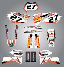 Full  Custom Graphic  Kit - STORM - KTM  EXC 2005 - 2007 stickers / decals