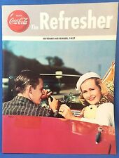 1957 COCA COLA Refresher Magazine Beach BIG GAME HUNTING TIGER India