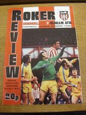 10/03/1979 Sunderland v Oldham Athletic  (Faint Crease). Item appears to be in g