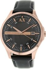 Armani Exchange Men's AX2129 Black Leather Quartz Watch