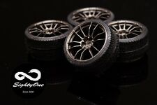 "Factory81 RM006 1/24 19"" Rays 57Motorsport set (4 Wheels with Tyres)"