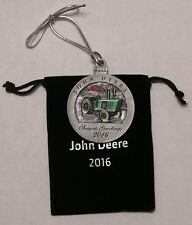 New - 2016 John Deere Pewter Christmas Ornament
