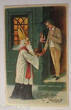 """""""Weihnachten, Nikolaus, Männer, Geschenk, Frauen"""" 1908, Prägekarte  (27054)"""