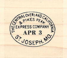 Pony Express Seal Wood Mounted Rubber Stamp IMPRESSION OBSESSION Western New