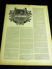 In-depth article MEXICO 1892 w Prints CACTUS HEDGE VALLEY ZOCALO CHAPULTEPEC