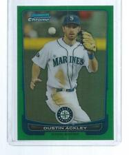 2012 BOWMAN CHROME DUSTIN ACKLEY GREEN REFRACTOR #153