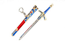 Anime Fate/stay night Saber Caliburn Keychain Cosplay Sword Weapons Model