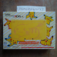 Nintendo New 3DS XL Pikachu Yellow Special Edition Handheld Console Brand New