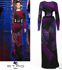 NEW ETRO AD CAMPAIGN RUNWAY PURPLE GOWN CUTOUT OPEN BACK 40 - 4