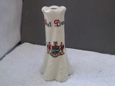 VINTAGE  TWISTED, EMBOSSED HAT PIN STAND  CRESTED KINVER    NO MAKER