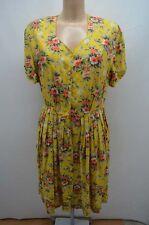 LAURA SCOTT ROBE DRESS JAUNE 42 44 XL