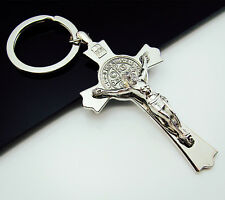 Free INRI belief Jesus 3D Statues Alloy Cross Always carry Key Ring Keychains