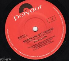 JON ENGLISH Words Are Not Enough *AUSTRALIA ORIGINAL POLYDOR 70s SINGLE*