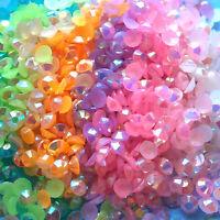 1000 Crystal Flat Back Iridescent Acrylic Rhinestones Gems Jelly AB 3mm or 4mm