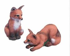 Baby Foxes Garden Statues Outdoor Lawn Yard Decor 2 pcs