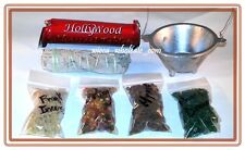 Aluminum Cauldron Incense Burner Charcoal and 4 Resin, Sage & Charcoa Kit travel