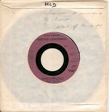 "45 TOURS / 7"" SINGLE PROMO-GERARD LENORMAN-CHANSON D'INNOCENCE / LA PETITE VALSE"