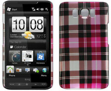 NEW PINK PLAID HARD CASE COVER FOR TMOBILE HTC HD2 PHONE