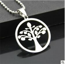 NEW tree of life Men's Silver 316L Stainless Steel Titanium Pendant Necklace
