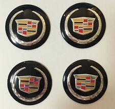 4 PCS 56mm Car Wheel Center Hub Caps Trim Stickers Emblem For Cadillac Blk New