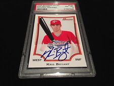 KRIS BRYANT SIGNED BASEBALL ROOKIE CARD CUBS AFLAC AUTO RARE PSA/DNA INVESTMENT
