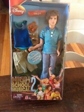 NIB 2007 Disney HIGH SCHOOL MUSICAL 2 Troy Summertime Doll Boy Male Zac Efron