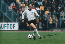 Franz BECKENBAUER Signed Autograph 12x8 Photo AFTAL COA Germany Der KAISER