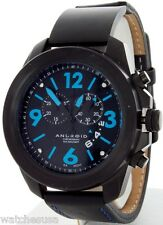 Android Men's AD428BY Volcano Chrono Black Dial Black Leather Strap Watch
