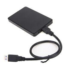 """Noir SATA 2.5"""" HDD Boîtier de Disque Dur Externe USB3.0 Haute Vitesse Durable"""