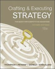 Crafting and Executing Strategy: Concepts and Cases by Arthur Thompson ...