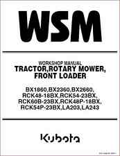 Kubota BX1860 BX2360 BX2660 Tractor Shop Manual (B277)
