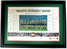 South Sydney Rabbitohs Hand Signed Framed Limited Edition Memorabilia