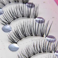 New 5 Pairs Natural Thick Black Half False Fake Half Eyelashes Eye Lashes Makeup
